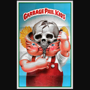 Garbage Pail Kids 'Generation 1' 1986 Puzzle C Bony Tony/Unzipped Zack Rare-T Exclusive Custom Frame