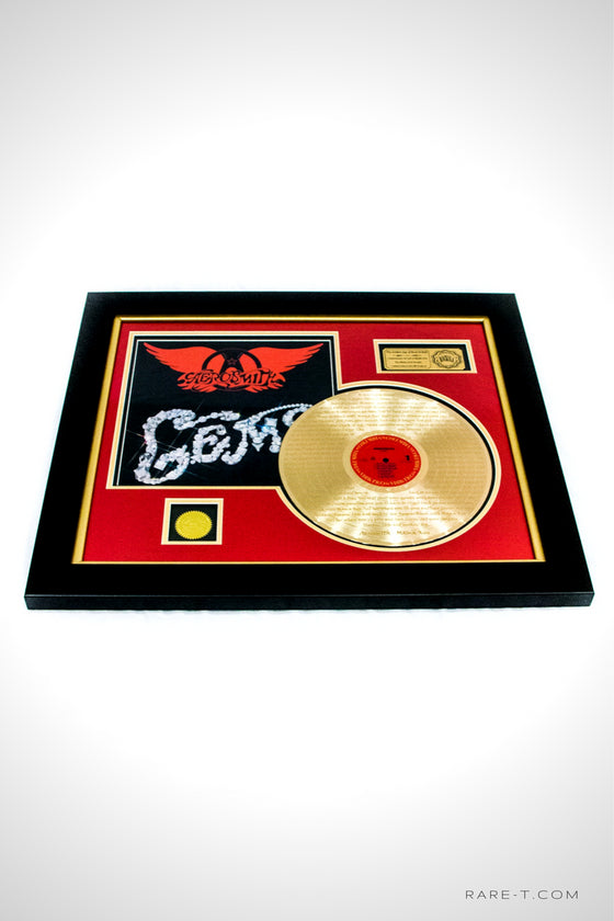 RARE-T Exclusive | 'AEROSMITH - MAMA KIN LYRICS' GOLD LP