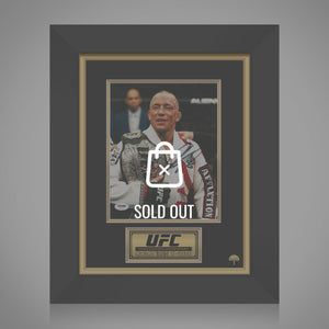 George St Pierre UFC Hand-Signed Photo By George St Pierre Custom Frame