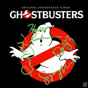Ghostbusters Original Soundtrack Limited Signature Edition Gold LP Custom Frame