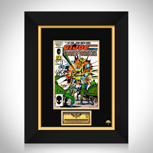Gi Joe & Transformers #1 1987 Limited Signature Edition Licensed Comic Book Cover Art Custom Frame