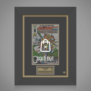 Gi Joe & The Transformers #1 1987 Hand-Signed Comic Book by Herb Trimpe & Stan Lee Custom Frame
