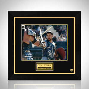 The Gladiator- 'Maximus At Battle' Jsa Certified Hand-Signed Photo By Russell Crowe Custom Frame