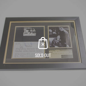 Godfather 1972 Hand-Signed By Al Pacino & F.F Coppola Rare-T Exclusive Custom Frame
