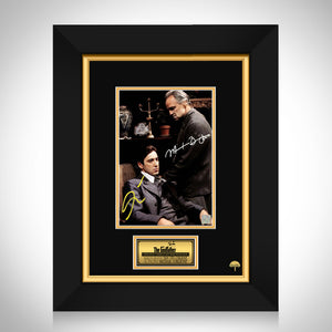 The Godfather Brando & Pacino Photo Limited Signature Edition Studio Licensed Custom Frame