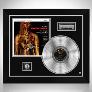 James Bond Goldfinger Platinum LP Limited Signature Edition Studio Licensed Custom Frame