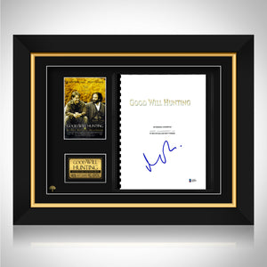 Good Will Hunting- Beckett Certified Hand-Signed Script By Matt Damon Custom Frame