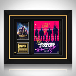 Guardians Of The Galaxy- Limited Signature Edition Studio Licensed Script Custom Frame