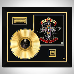 Guns N Roses Appetite For Destruction Gold LP Limited Signature Edition Licensed Custom Frame
