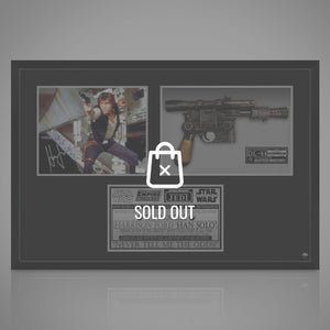 Star Wars - Hand-Signed Han Solo Photo By Harrison Ford & Dl-44 Blaster Movie Prop Custom Frame