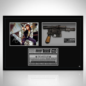 Star Wars - Limited Edition Signature Series Han Solo Photo & Dl-44 Blaster Movie Prop Custom Frame
