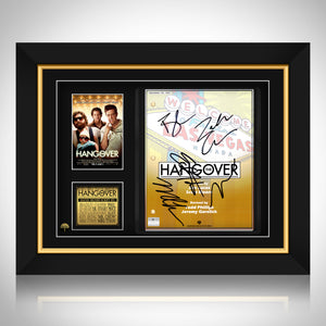 Hangover - Hand-Signed Script by Cast Members Custom Frame