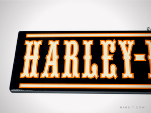 Traditional Wood Plank 'HARLEY DAVIDSON' Dealership Sign