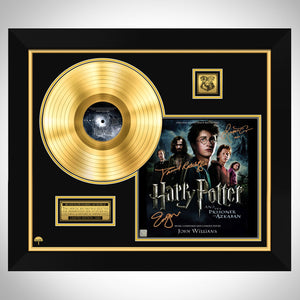 Harry Potter Prisoner of Azkaban Gold LP Limited Signature Edition Custom Frame