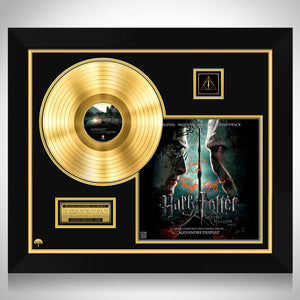 Harry Potter and the Deathly Hallows Part 2 Limited Signature Edition Licensed Gold LP Custom Frame