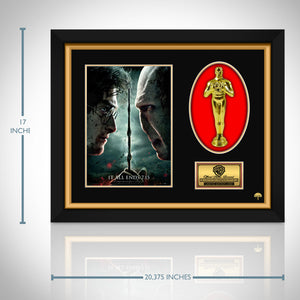 Harry Potter and the Deathly Hallows Part 2 Limited Edition Licensed 24k Gold Oscar Custom Frame