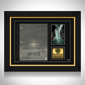 Harry Potter- Deathly Hallows Part 2 Limited Signature Edition Licensed Script Custom Frame