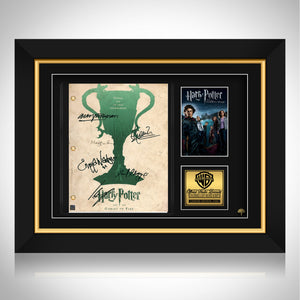Harry Potter and the Goblet of Fire Limited Signature Edition Studio Licensed Script Custom Frame
