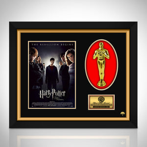 Harry Potter and the Order of the Phoenix Limited Edition Licensed 24k Gold Oscar Custom Frame