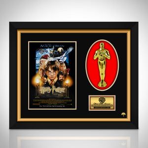 Harry Potter and the Sorcerer's Stone Limited Edition Licensed 24k Gold Plated Oscar Custom Frame