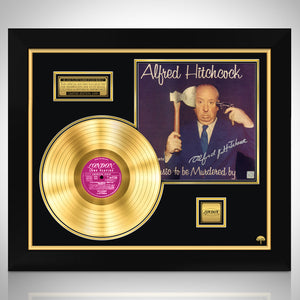 Alfred Hitchcock Music to be Murdered by Limited Signature Edition Licensed Gold LP Custom Frame