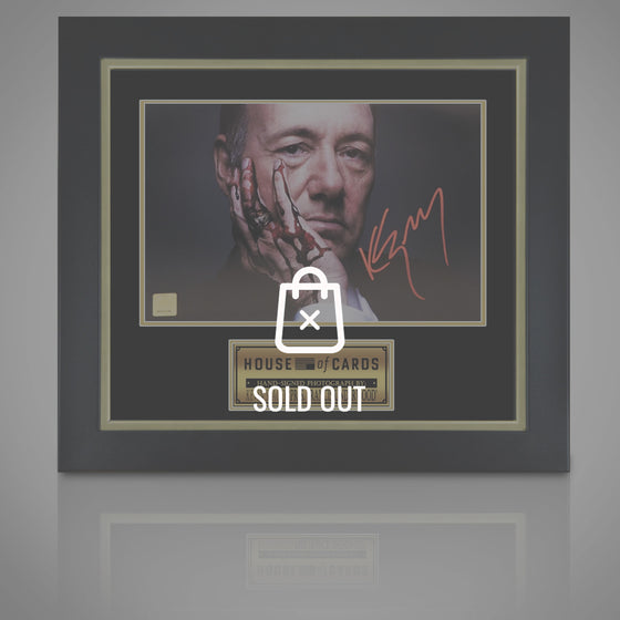 RARE-T Exclusive Limited Edition 'HOUSE OF CARDS - SCRIPT' Custom Frame