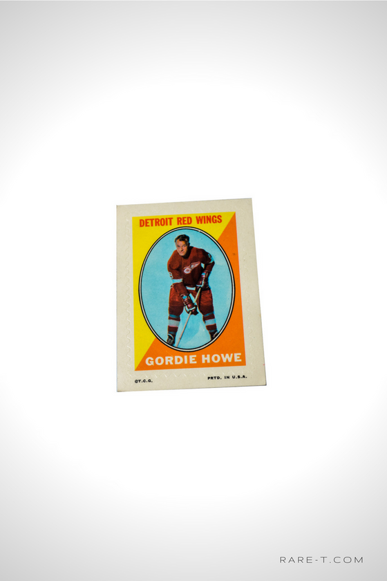 1970 STICKER STAMP 'OPC - GORDIE HOWE'