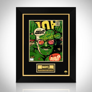 Stan Lee- 'Hulk' Hand-Signed Caricature Art Print by Stan Lee Custom Frame