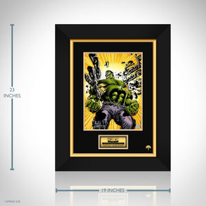 The Incredible Hulk Hand-Signed Artwork Print By Artist Neal Adams Custom Frame