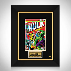 The Incredible Hulk And Now The Wolverine #181 Stan Lee Limited Signature Edition Comic Book Cover Art Custom Frame