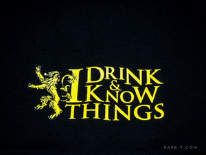 'GAME OF THRONES-I DRINK, I KNOW THINGS' Beanie/Hat
