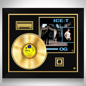 Ice-T - Original Gangster Limited Signature Edition Licensed Gold LP Custom Frame