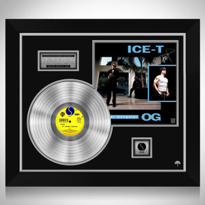 Ice-T - Original Gangster Limited Signature Edition Licensed Platinum LP Custom Frame
