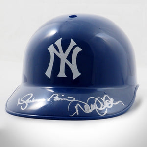 Derek Jeter & Mariano Rivera New York Yankees Hand-Signed Baseball Helmet by Derek Jeter & Mariano Rivera
