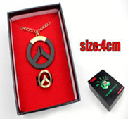 Overwatch - Logo Necklace And Ring Collector Set