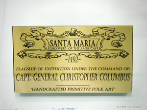 RARE-T Exclusive '1492 SANTA MARIA MODEL - PRIMITIVE FOLK ART' Museum Display
