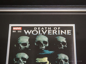 RARE-T Exclusive  '#1 DEATH OF WOLVERINE COMIC BOOK - Signed by STAN LEE' custom frame