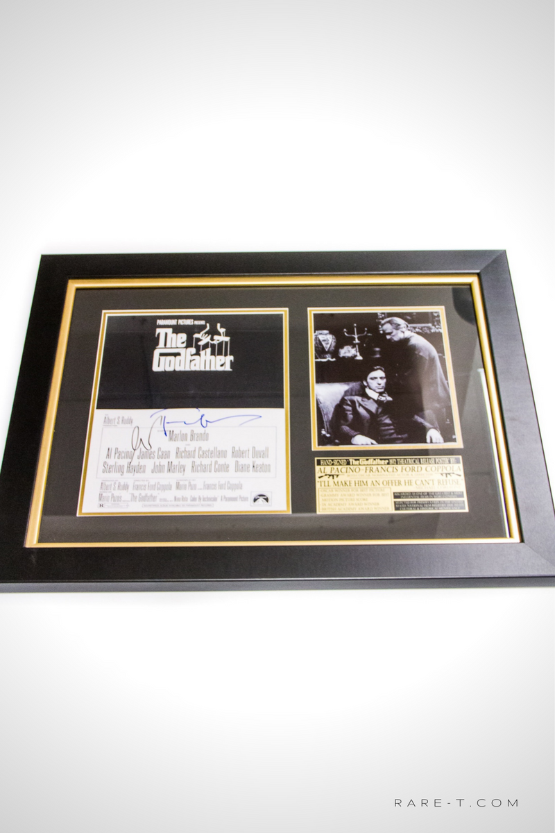 RARE-T Exclusive \'1972 SIGNED BY PACINO & COPPOLA GODFATHER\' Custom ...