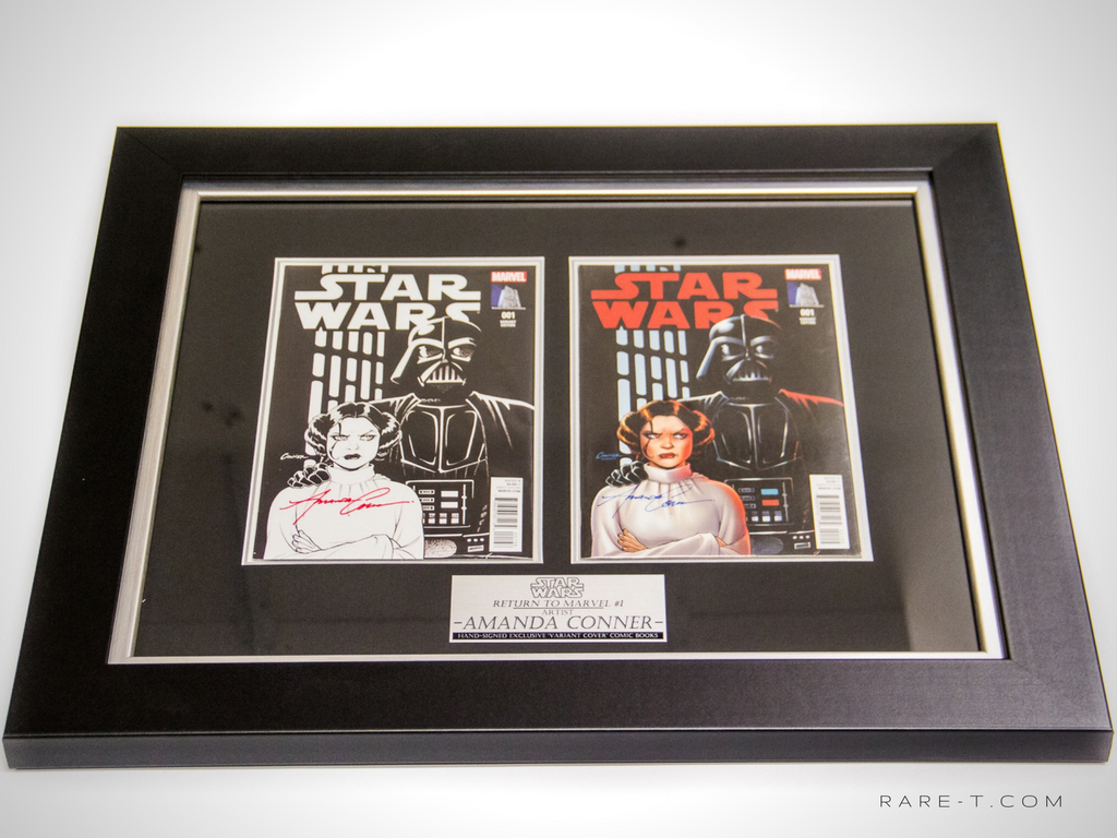 RARE-T Exclusive '#1 STAR WARS COMIC BOOK-SIGNED BY ARTIST AMANDA CONNER' custom frame
