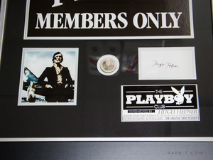 RARE-T Exclusive 'HEFNER SIGNED/PLAYBOY CLUB' Custom Frame