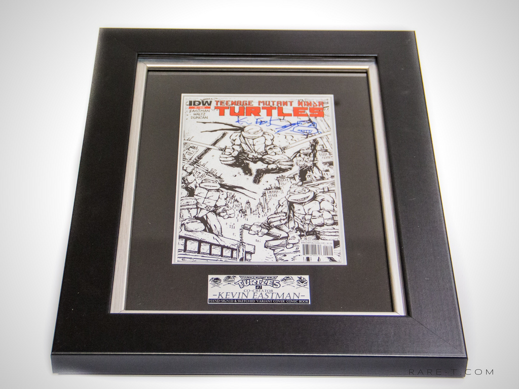 RARE-T Exclusive '#1 TMNT SKETCH SIGNED BY KEVIN EASTMEN' Custom Frame