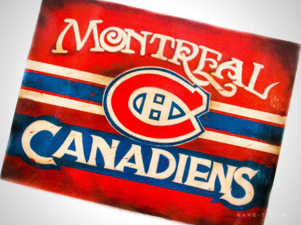 RARE-T Exclusive '1956 MONTREAL CANADIENS' Painting