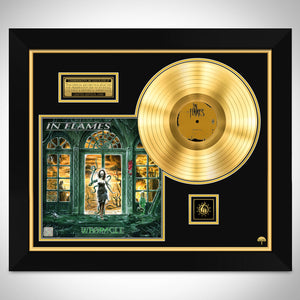 In Flames 'Whoracle'  Limited Collector Edition Studio Licensed Gold LP Custom Frame