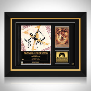 Indiana Jones And The Last Crusade Script Limited Signature Edition Studio Licensed Custom Frame