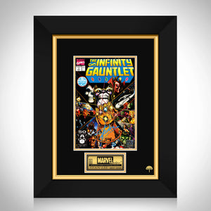Thanos Infinity Gauntlet #1 Stan Lee Limited Signature Edition Comic Book Cover Art Custom Frame