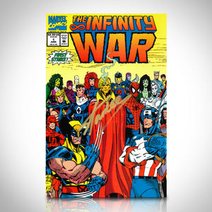 Marvel Infinity War (1992) #1 Hand-Signed Comic Book By Stan Lee Custom Frame