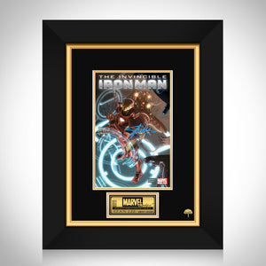 The Invincible Iron Man #1 - Stan Lee Limited Signature Edition Comic Book Cover Art Custom Frame
