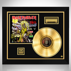 Iron Maiden 'Killers' Limited Collectors' Edition Studio Licensed Gold Lp Custom Frame