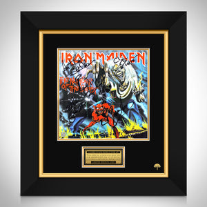 Iron Maiden Number of the BeastLimited Signature Edition Studio Licensed LP Cover Custom Frame