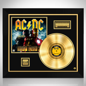 AC/DC Iron Man 2 Soundtrack Gold LP Limited Signature Edition Studio Licensed Custom Frame